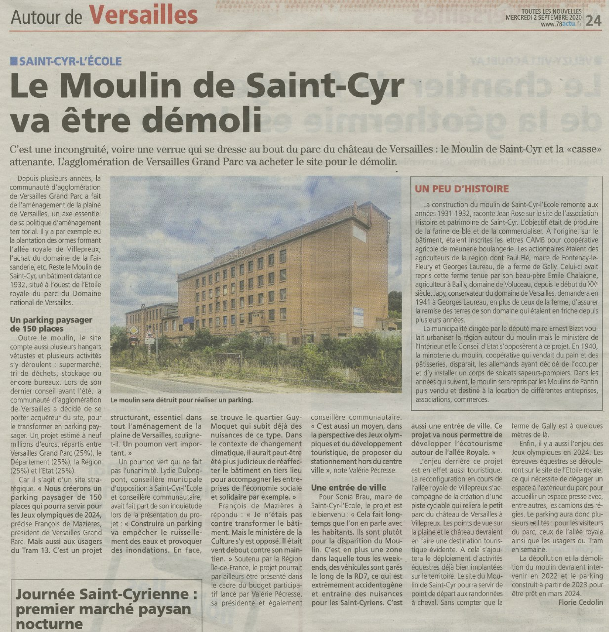 Article TLN Moulin de Saint-Cyr